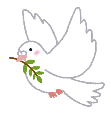 Dove symbolizing peace